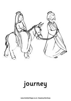 Christmas Mary Joseph travel to Bethlehem on Donkey crafts