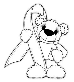 This is a special awareness ribbon coloring page to