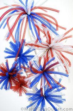 diy fireworks decorations