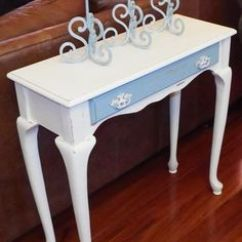 Painted Queen Anne Sofa Table High End Sectional Sofas Console Tables Design Ideas Steel With Cherry Wood Top 40 X 14