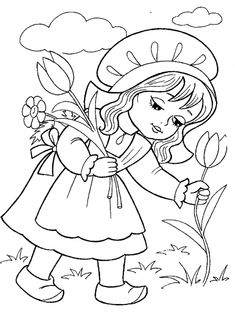 Little Red Riding Hood coloring page: Talking to the wolf