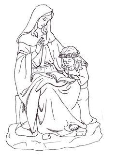 1000+ images about Saints Coloring Pages on Pinterest
