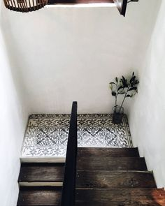 Tiled stair landing