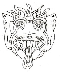 Chinese Dragon Mask to Color Printable Mask, free to