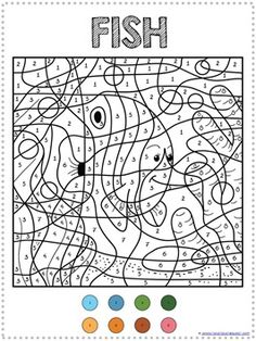 Car Color by Number Mosaic : Printables for Kids