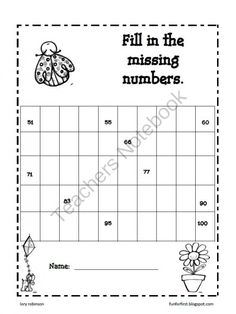 120 Chart Partially Filled (A) Math Worksheet #freemath