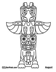 Native American Activity Pack Totem Pole, Totem Cubes