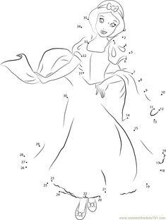 Elsa Frozen dot to dot Printable Worksheet