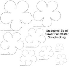 different 6 petals flowers templates and instructions to