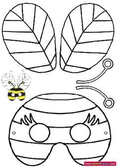 Grasshopper pattern. Use the printable outline for crafts