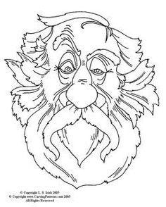 Carving Wood Spirits Patterns Free Sketch Coloring Page