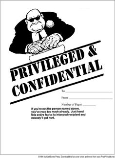 This clever printable fax cover sheet has a cartoon of a