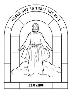 Picture of Jesus. Copy and paste to Word for a coloring