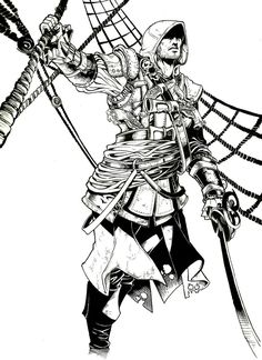 1000+ images about Coloriage ASSASSIN'S CREED on Pinterest