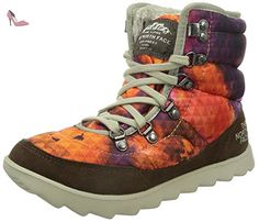 north face w thermoball lace chaussures de randonnee femme multicolore morado naranja