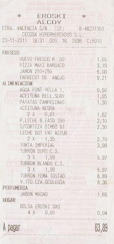 Cositas Ricas receipt (from Queens, NY restaurant
