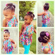 Cute Kids Bun Beauty Is Skin Deep Pinterest Braided Buns