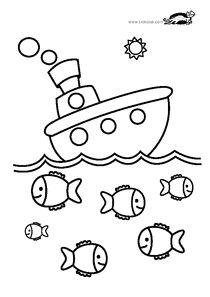 Coloriage poisson carpe koi facile sur Hugolescargot.com