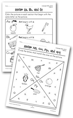 This is 5 letter matching worksheets where the student