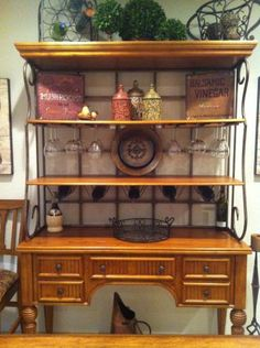kitchen cabinet buffet tall wall cabinets 1000+ images about bakers racks on pinterest | rack ...