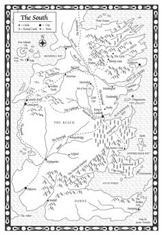 The south, Westeros map and Maps on Pinterest