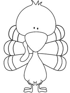 Turkey body template, make handprints with construction