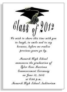 Graduation Party or Announcement Invitation Printable or