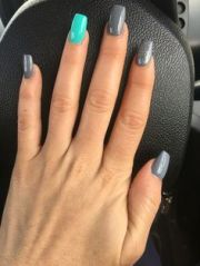 anc nails turquoise and multi color