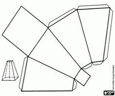 malvorlagen Eine quadratische Basis Pyramide ausmalbilder