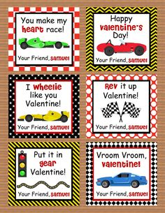 Valentine Vehicle Card | Valentineu0027s Day | Pinterest | Personalized Race Car  Valentine Class Cards For