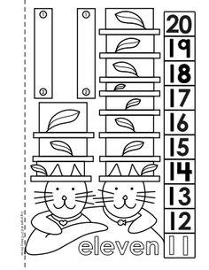 Material didáctico para niños. El número ocho, 8. Para