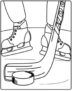 Hockey stick pattern. Use the printable outline for crafts