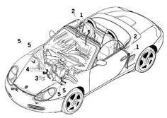 05 Porsche 987 BOXSTER 2.7 M96.25 COMPLETE ENGINE MOTOR 2