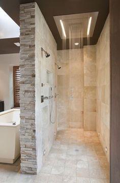 Shower No Doors On Pinterest Walk In Bathroom And Shower Designs