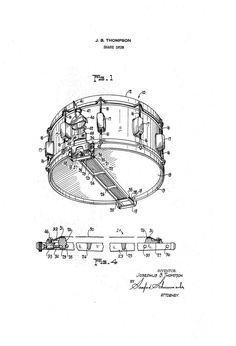 Fender Jaguar Guitar 1950's Patent Art Drawing by