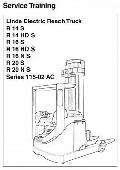 Linde Lift Truck 386 Series: E12, E14, E15, E16, E18, E20