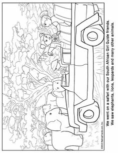 Fiji Girl Guide coloring page for your Girl Scout World