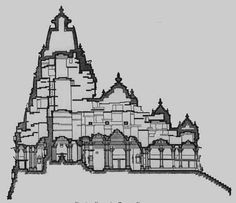 Indian Temple Architecture Drawings hindu temple, india