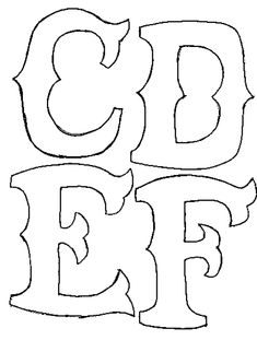 Free Printable Stencils for Alphabet Letters, Numbers