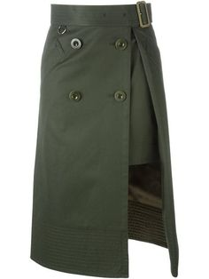 Sacai layered midi skirt
