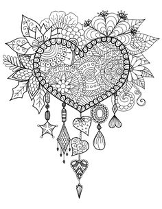 Wild At Heart Adult Coloring Book (31 stress-relieving