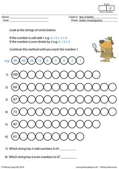 Year 3 Maths: This year 3 maths worksheet shows a survey