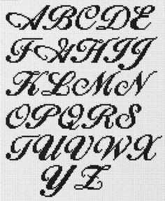 Many fantastic free cross-stitch and back-stitch fonts