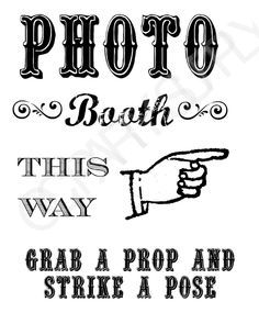 Chalkboard Photo Booth Sign FREE to download at