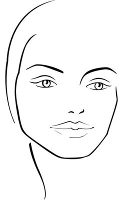 Beautynewbie.com: 10 Blank Face Chart Templates (Male Face