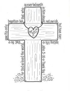 Ash Wednesday coloring page: Palms are burnt for ashes