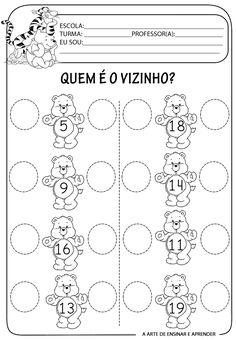 Matemática Infantil: Atividade Matemática Adição e