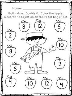Johnny Appleseed John Chapman Color by Number : Printables