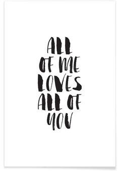 Poster med citat till ram, svartvit texttavla. My favorite