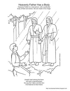 Adam and Eve teaching their children (LDS The Friend